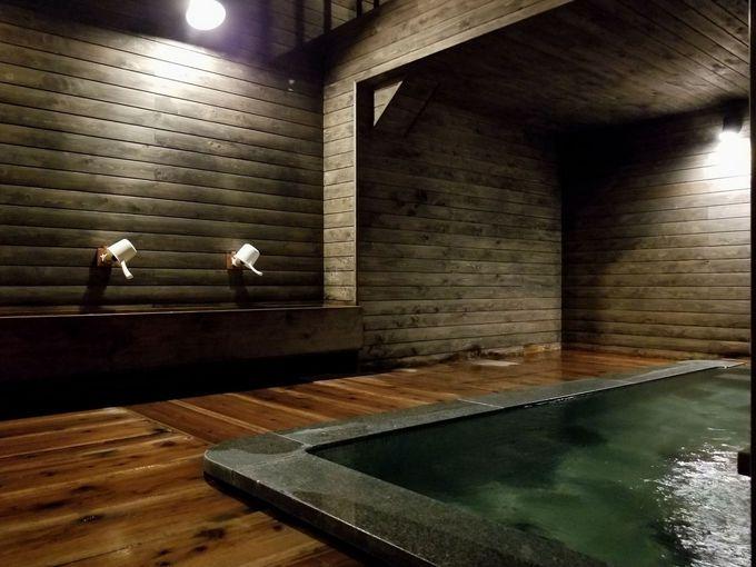 24時間入り放題の温泉は源泉100%かけ流し!