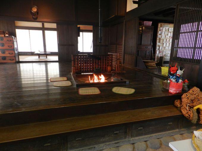 古民家で、古き良き里山文化に触れながら一休み