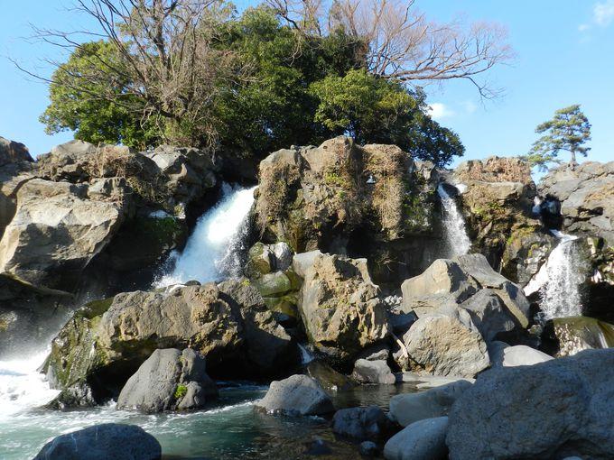 さすが水の都。街中に滝壺あり! —鮎壺の滝(沼津市)—