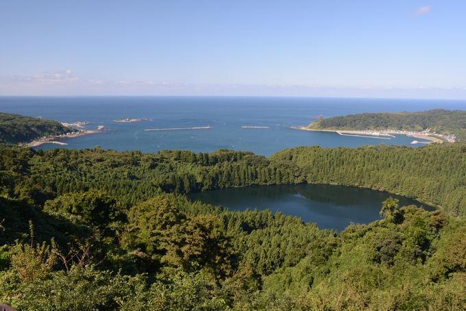 水蒸気爆発で湖ができた!八望台から火口湖を望む