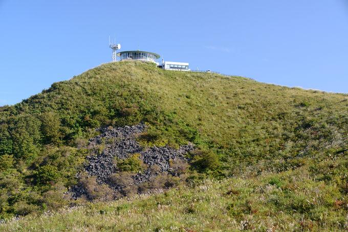 男鹿半島を360度見渡す寒風山山頂が旅のスタート!