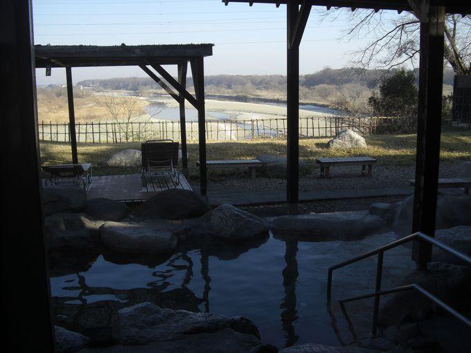 壺湯に入って男体山と思川を独り占め!小山・思川温泉