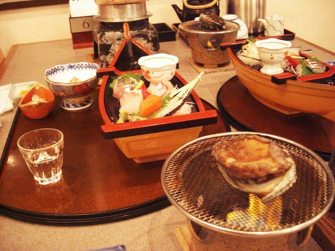 旅行の楽しみは何といっても夕食!季節で変わる「房総磯めぐりプラン」冬は鮑の踊り焼