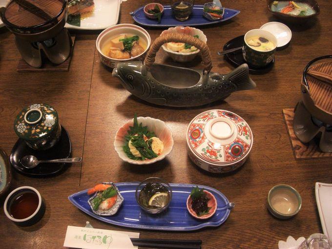 温泉の後は体に良い食事!夕食は旬の地元食材が満載!!