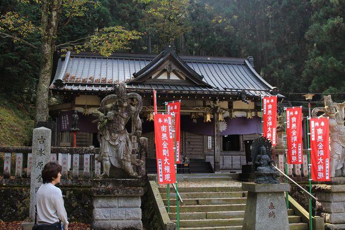境内には、本尊の金剛童子をはじめとする50体の仏像!