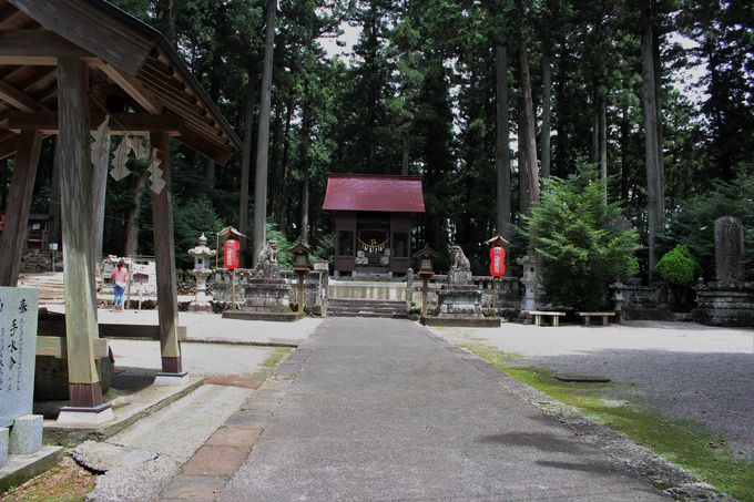 境内は陽のパワーにあふれる岩戸別神社!大石をくりぬいた手水舎