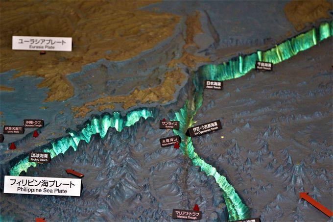 太平洋のプレート運動の展示は地球が生きていることを実感!
