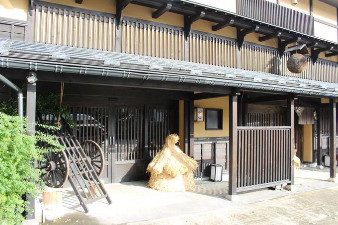 場所は越後湯沢駅西口ロータリーの前!お土産屋に見える隠れ宿