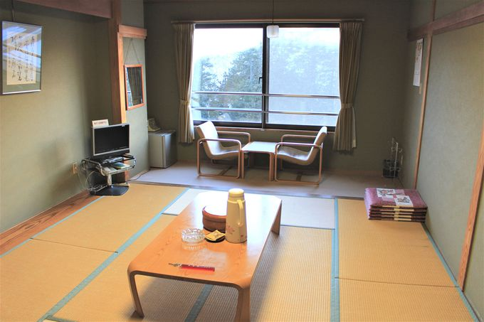 部屋は3〜4人、15〜19人用の2タイプの和室!晴天の夜に広がる満天の星