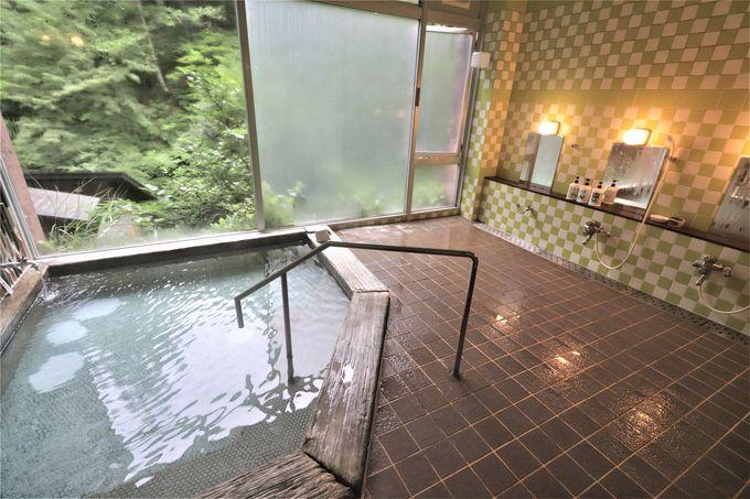 3つの貸切風呂もラジウム温泉