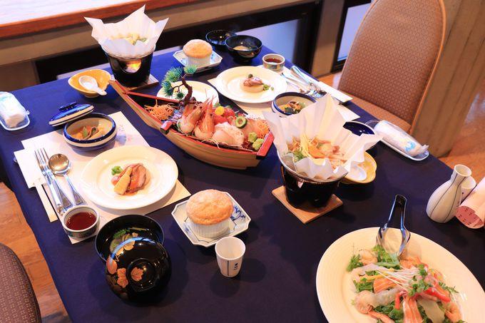 夕食は四季折々の食材の和と洋の料理