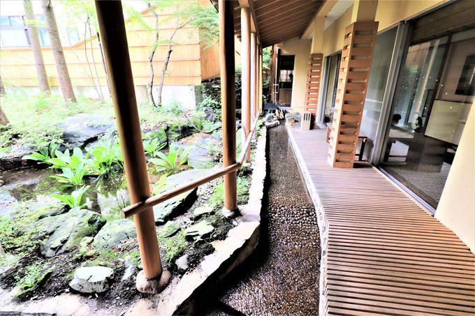 旅館たにがわの朝は、歩行湯と艶々ご飯