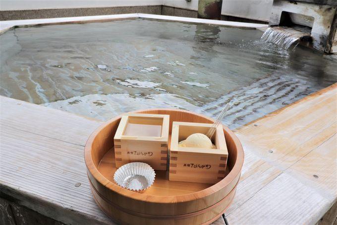 檜の香りの大浴場と歩行湯に貸切風呂