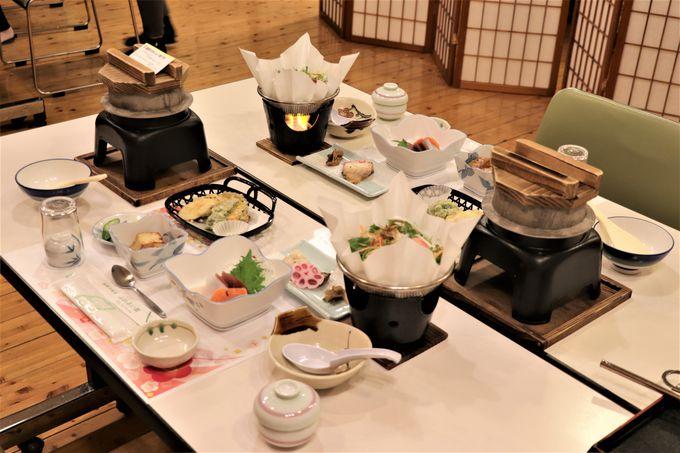天日干しの倉渕産コシヒカリと地元野菜の料理