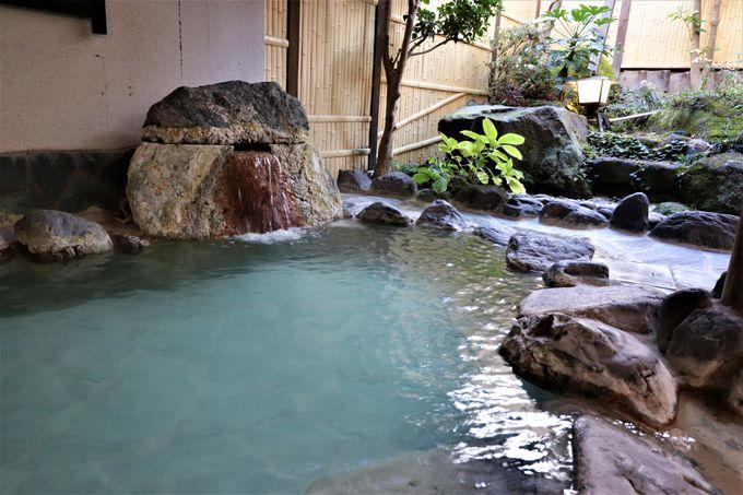 源泉かけ流しの大浴場と露天風呂!大浴場並みの貸切風呂