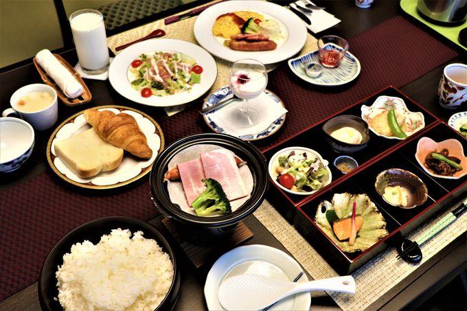 地元食材の会席料理の夕食 和食と洋食が選べる朝食