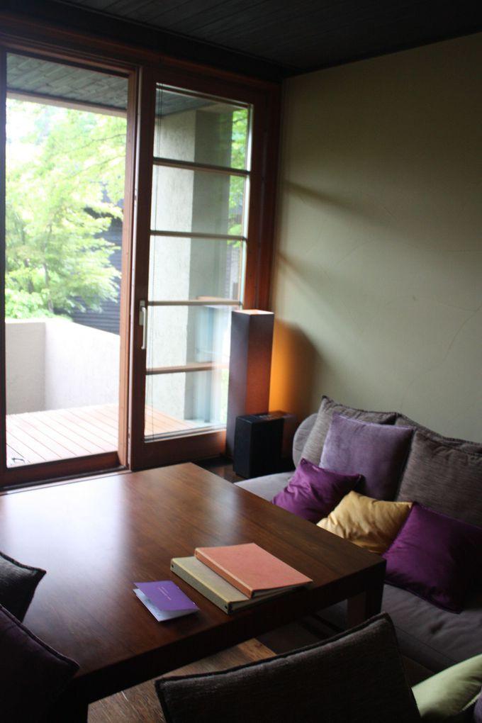 広さ・プライベート感・充実したアメニティー・・・何時間でも過ごせる客室