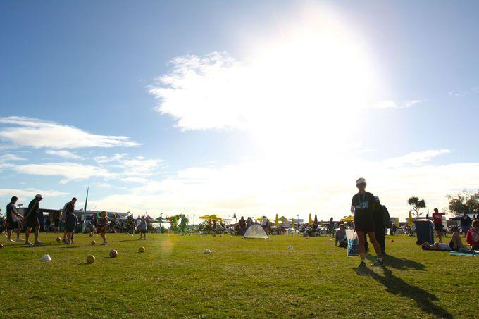 ゴール後は海岸沿いの公園でひと休み。そして観光モードへ。