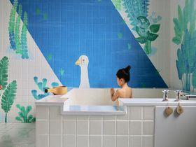 台湾のかわいすぎる個室風呂!宜蘭・礁溪「葱澡」のアート湯