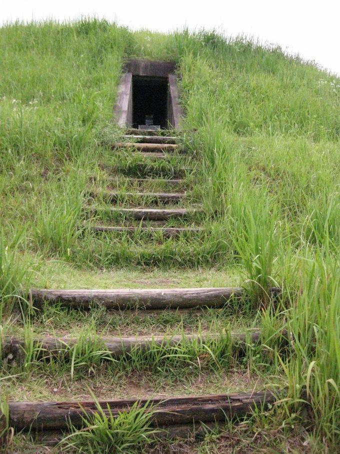 整備された古墳内部で古代人の生活を垣間見る!13号墳