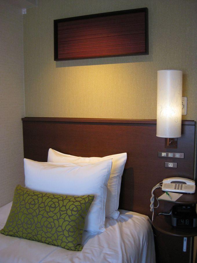 「眠り」にこだわった客室!シモンズ社のベッドマットレスと枕