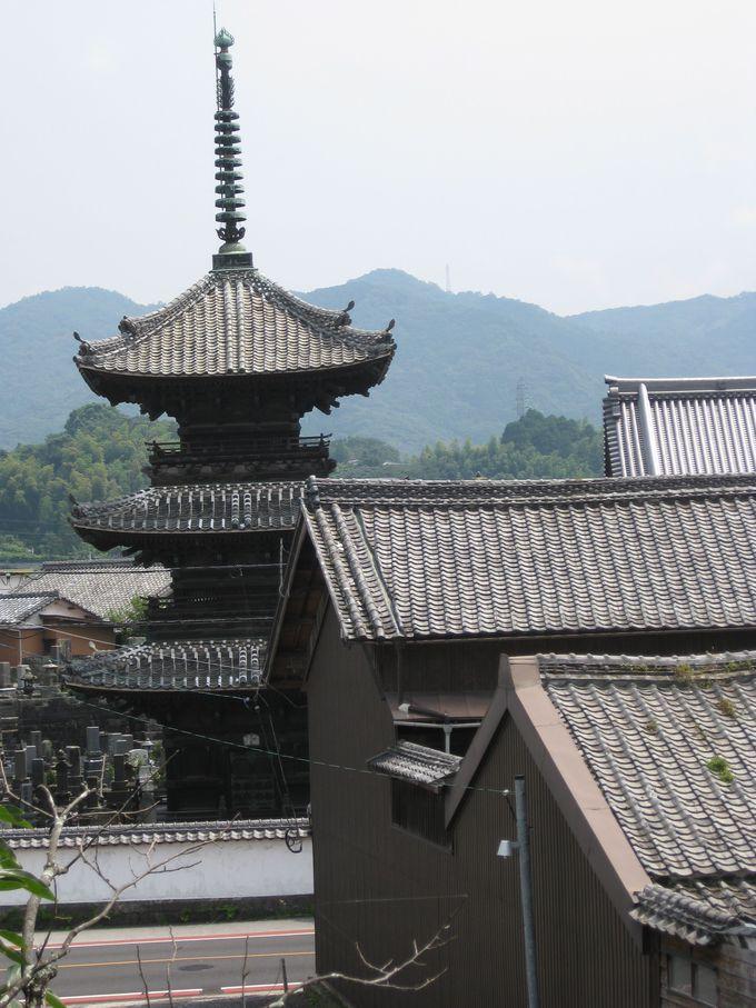 歴史街道の入口!龍原寺「三重塔」