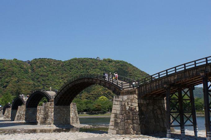 旅のはじまりは錦帯橋から
