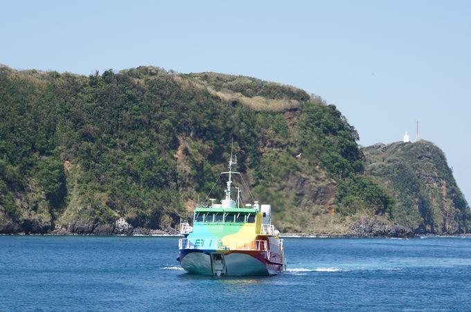 高速ジェット船で伊豆大島へ