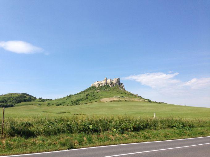 遠くからでもよくわかる城の姿は堂々として・・・