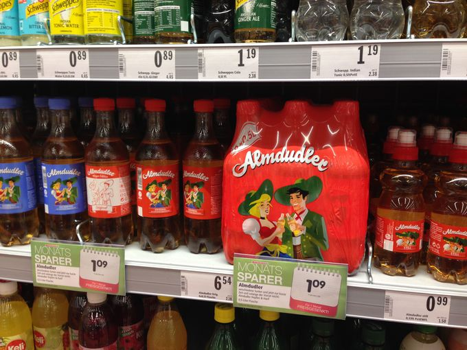 これぞオーストリアの清涼飲料Almdudler