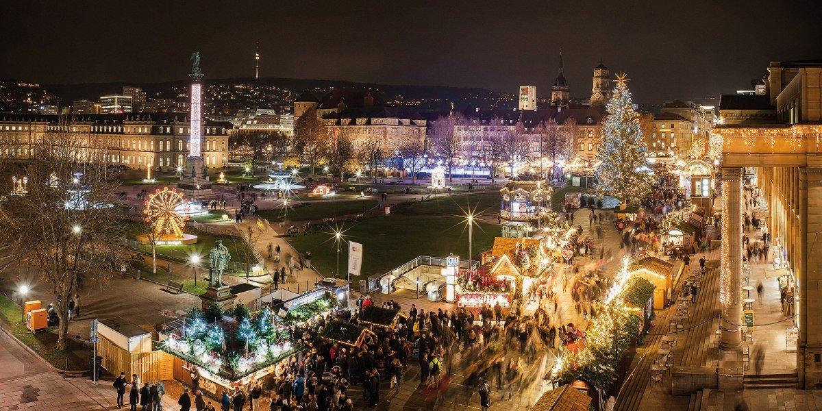 さすがドイツ最大!シュトゥットガルトは街丸ごとクリスマスマーケット会場
