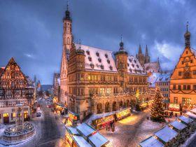おとぎの町ロマンティック街道ローテンブルクのクリスマスマーケット