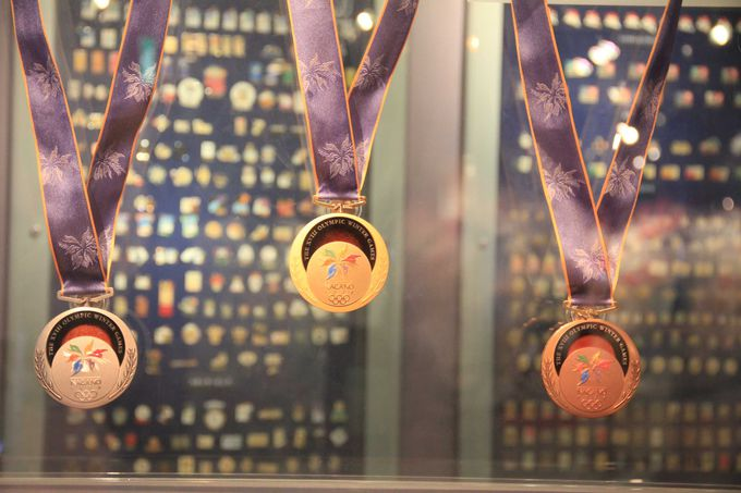 オリンピックには欠かせない 金・銀・銅のメダル