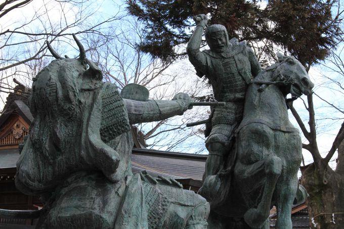 上杉謙信と武田信玄の一騎打ちの場面も