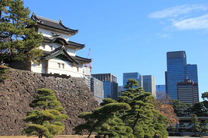 色濃く残る江戸城の面影も皇居のみどころです。