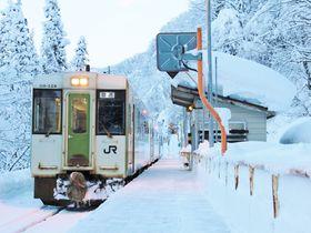 ローカル線情緒いっぱい!飯山線に乗って越後路を行く雪見の旅