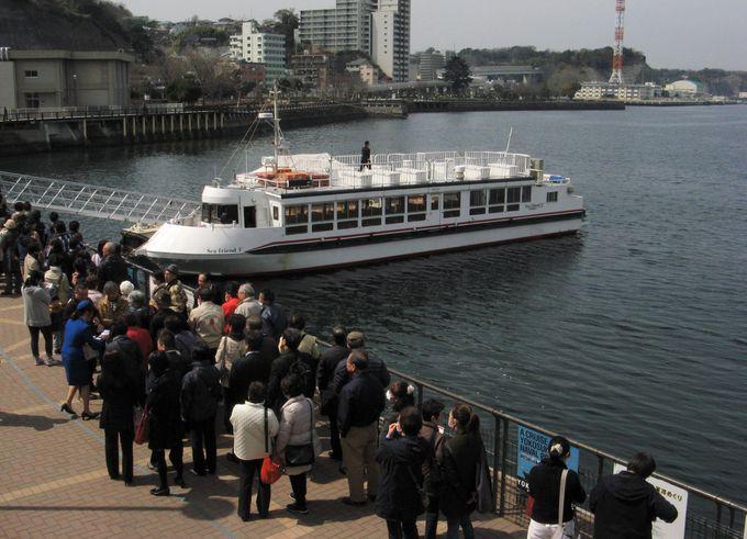 大人気のYOKOSUKA軍港めぐり。まずは事前の予約を