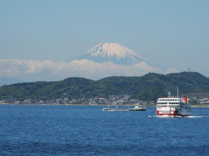 天気が良ければ船上から富士山の眺望も