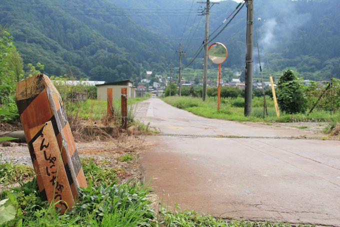 トンネルや残存する貴重な架線柱も(田上駅〜木島駅)