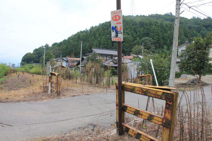各所に残存する貴重な鉄道標識(赤岩駅〜田上駅)