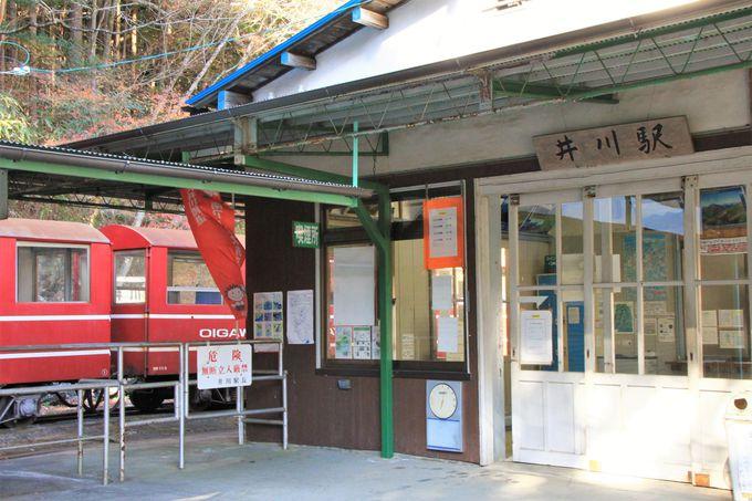 すぐの折返し乗車ではもったいない。井川駅では観光時間確保を