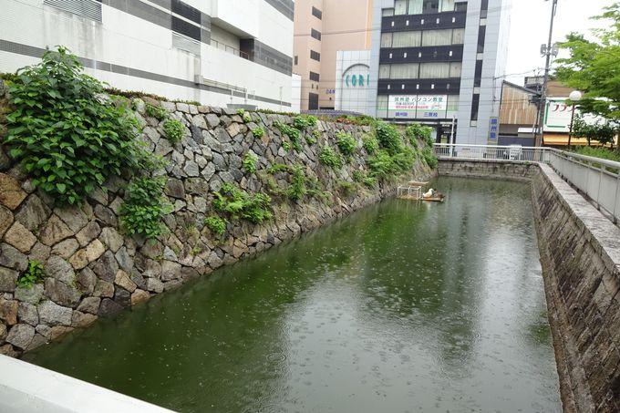 わずかに残る本丸中門跡地と一番櫓跡