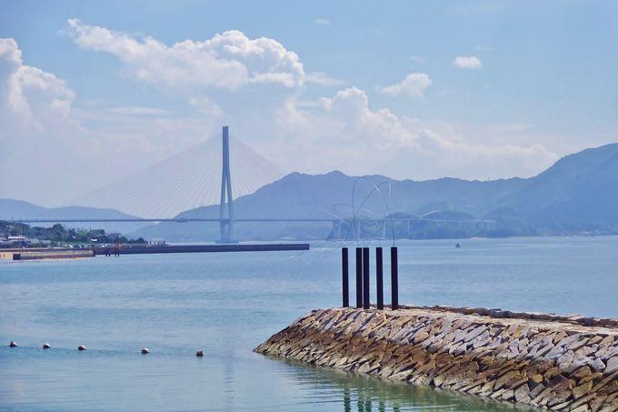 美しい橋も一緒に〜空に線を描く彫刻ステンレスワイヤーの美