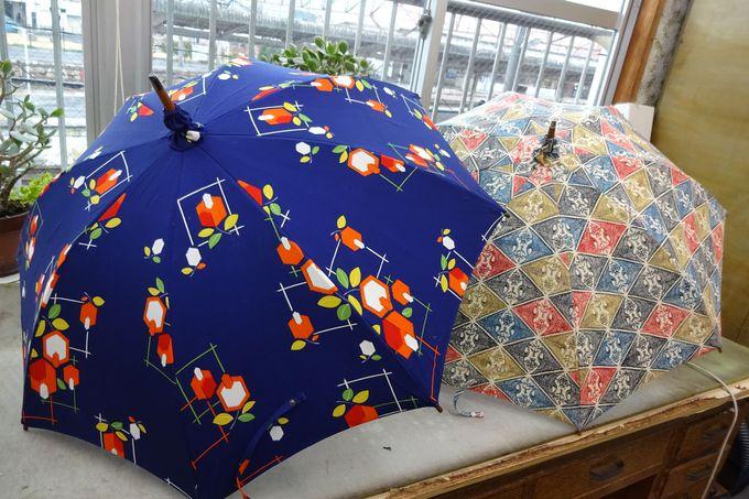 おばあ様や親しい方の着物を素敵な傘として甦らせる・・