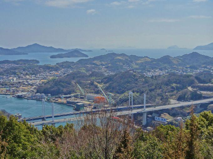 新尾道大橋方面もご覧のとおり・・「しまなみ海道」の島々