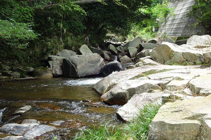 桃太郎を育てたお婆さんが洗濯をした川