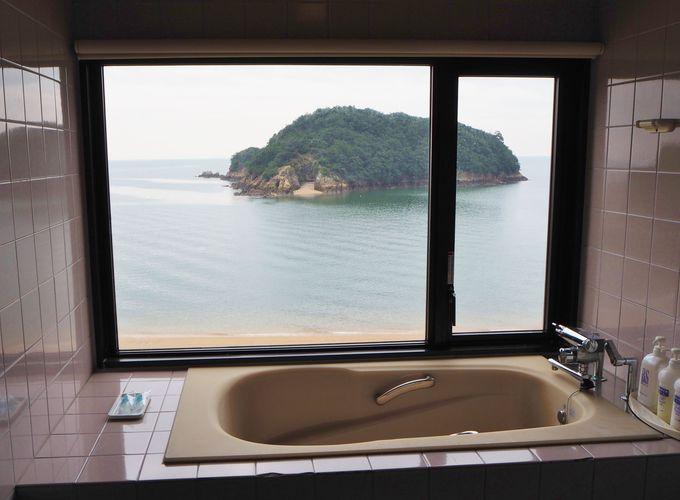 こんな景色をお風呂から眺められるお部屋も♪