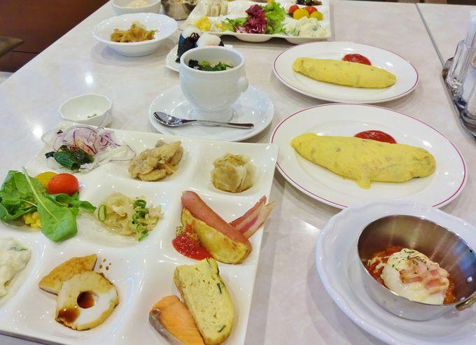 郷土料理や広島県の食材も豊富な朝食バイキング
