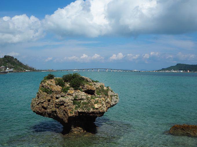 浜比嘉島大橋と美しい海・・この景色に感謝!