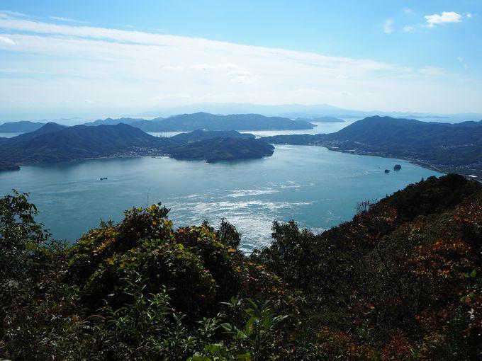 芸予諸島・最高峰の観音山(火瀧山)へ登山し絶景を眺める